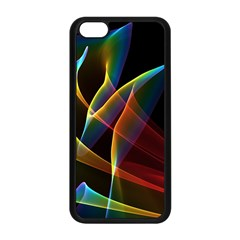 Peacock Symphony, Abstract Rainbow Music Apple Iphone 5c Seamless Case (black) by DianeClancy