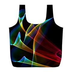 Peacock Symphony, Abstract Rainbow Music Reusable Bag (l) by DianeClancy