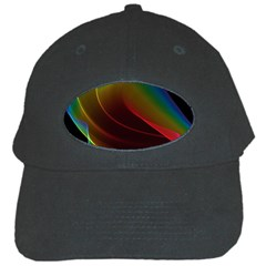 Liquid Rainbow, Abstract Wave Of Cosmic Energy  Black Baseball Cap by DianeClancy