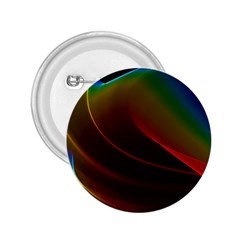 Liquid Rainbow, Abstract Wave Of Cosmic Energy  2 25  Button by DianeClancy