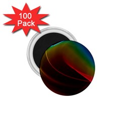 Liquid Rainbow, Abstract Wave Of Cosmic Energy  1 75  Button Magnet (100 Pack) by DianeClancy
