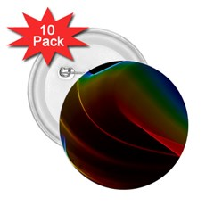 Liquid Rainbow, Abstract Wave Of Cosmic Energy  2 25  Button (10 Pack) by DianeClancy
