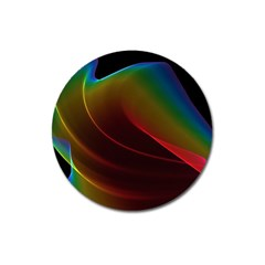 Liquid Rainbow, Abstract Wave Of Cosmic Energy  Magnet 3  (round) by DianeClancy