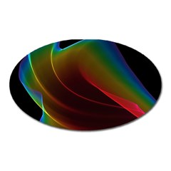 Liquid Rainbow, Abstract Wave Of Cosmic Energy  Magnet (oval) by DianeClancy
