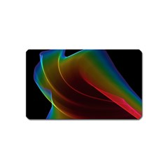 Liquid Rainbow, Abstract Wave Of Cosmic Energy  Magnet (name Card) by DianeClancy