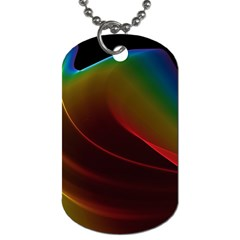 Liquid Rainbow, Abstract Wave Of Cosmic Energy  Dog Tag (two Sided)  by DianeClancy
