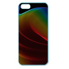 Liquid Rainbow, Abstract Wave Of Cosmic Energy  Apple Seamless Iphone 5 Case (color) by DianeClancy