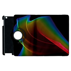 Liquid Rainbow, Abstract Wave Of Cosmic Energy  Apple Ipad 3/4 Flip 360 Case by DianeClancy