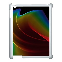 Liquid Rainbow, Abstract Wave Of Cosmic Energy  Apple Ipad 3/4 Case (white) by DianeClancy