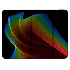 Liquid Rainbow, Abstract Wave Of Cosmic Energy  Samsung Galaxy Tab 7  P1000 Flip Case by DianeClancy