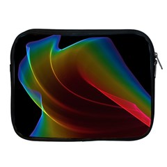 Liquid Rainbow, Abstract Wave Of Cosmic Energy  Apple Ipad Zippered Sleeve by DianeClancy