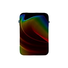 Liquid Rainbow, Abstract Wave Of Cosmic Energy  Apple Ipad Mini Protective Sleeve by DianeClancy