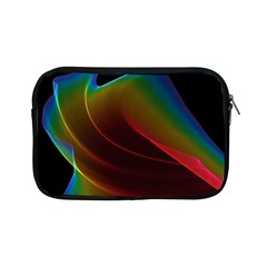 Liquid Rainbow, Abstract Wave Of Cosmic Energy  Apple Ipad Mini Zippered Sleeve by DianeClancy