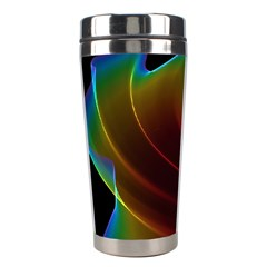 Liquid Rainbow, Abstract Wave Of Cosmic Energy  Stainless Steel Travel Tumbler by DianeClancy