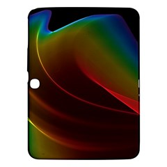 Liquid Rainbow, Abstract Wave Of Cosmic Energy  Samsung Galaxy Tab 3 (10 1 ) P5200 Hardshell Case  by DianeClancy