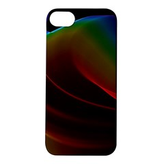 Liquid Rainbow, Abstract Wave Of Cosmic Energy  Apple Iphone 5s Hardshell Case by DianeClancy
