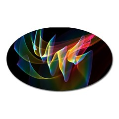 Northern Lights, Abstract Rainbow Aurora Magnet (oval) by DianeClancy