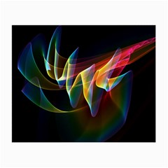 Northern Lights, Abstract Rainbow Aurora Glasses Cloth (small, Two Sided) by DianeClancy