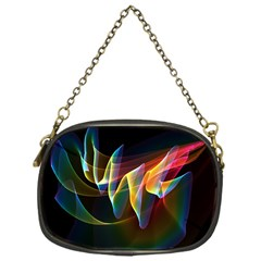 Northern Lights, Abstract Rainbow Aurora Chain Purse (one Side) by DianeClancy