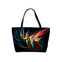 Northern Lights, Abstract Rainbow Aurora Large Shoulder Bag by DianeClancy