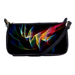 Northern Lights, Abstract Rainbow Aurora Evening Bag by DianeClancy
