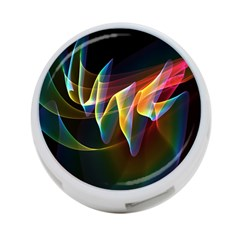 Northern Lights, Abstract Rainbow Aurora 4 Port Usb Hub (one Side) by DianeClancy