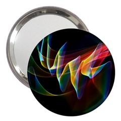Northern Lights, Abstract Rainbow Aurora 3  Handbag Mirror by DianeClancy