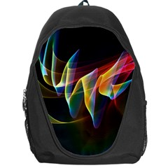 Northern Lights, Abstract Rainbow Aurora Backpack Bag by DianeClancy