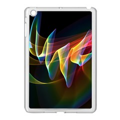 Northern Lights, Abstract Rainbow Aurora Apple Ipad Mini Case (white) by DianeClancy