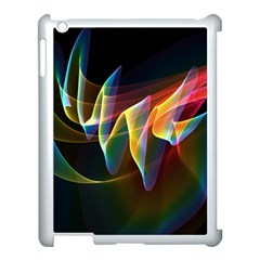 Northern Lights, Abstract Rainbow Aurora Apple Ipad 3/4 Case (white) by DianeClancy