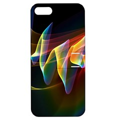 Northern Lights, Abstract Rainbow Aurora Apple Iphone 5 Hardshell Case With Stand by DianeClancy