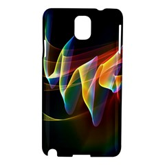 Northern Lights, Abstract Rainbow Aurora Samsung Galaxy Note 3 N9005 Hardshell Case by DianeClancy
