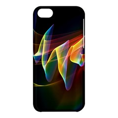 Northern Lights, Abstract Rainbow Aurora Apple Iphone 5c Hardshell Case by DianeClancy