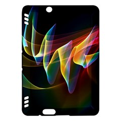 Northern Lights, Abstract Rainbow Aurora Kindle Fire Hdx 7  Hardshell Case by DianeClancy