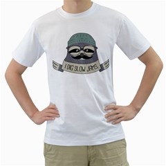 Hipster Sloth s Got Soul Men s T Shirt (white)  by Contest1861806