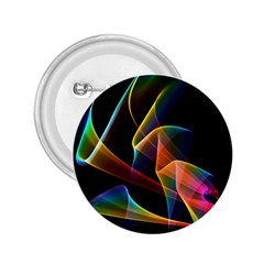 Crystal Rainbow, Abstract Winds Of Love  2 25  Button by DianeClancy