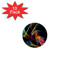 Crystal Rainbow, Abstract Winds Of Love  1  Mini Button Magnet (10 Pack) by DianeClancy