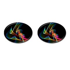 Crystal Rainbow, Abstract Winds Of Love  Cufflinks (oval) by DianeClancy