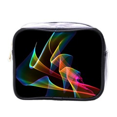 Crystal Rainbow, Abstract Winds Of Love  Mini Travel Toiletry Bag (one Side) by DianeClancy