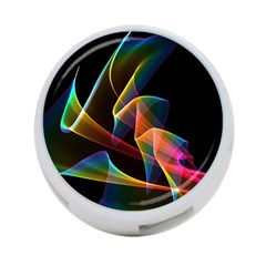 Crystal Rainbow, Abstract Winds Of Love  4 Port Usb Hub (one Side) by DianeClancy