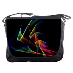 Crystal Rainbow, Abstract Winds Of Love  Messenger Bag by DianeClancy
