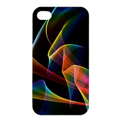 Crystal Rainbow, Abstract Winds Of Love  Apple Iphone 4/4s Premium Hardshell Case by DianeClancy