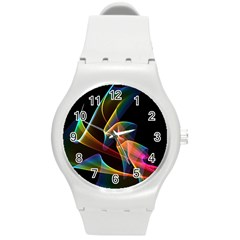 Crystal Rainbow, Abstract Winds Of Love  Plastic Sport Watch (medium) by DianeClancy
