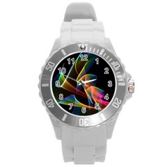 Crystal Rainbow, Abstract Winds Of Love  Plastic Sport Watch (large) by DianeClancy
