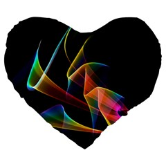 Crystal Rainbow, Abstract Winds Of Love  19  Premium Heart Shape Cushion by DianeClancy