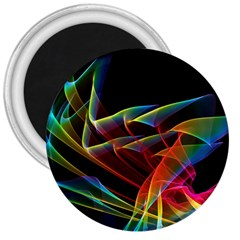 Dancing Northern Lights, Abstract Summer Sky  3  Button Magnet by DianeClancy