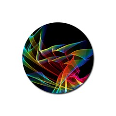 Dancing Northern Lights, Abstract Summer Sky  Drink Coaster (round) by DianeClancy