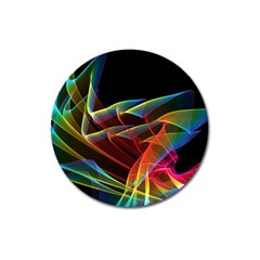 Dancing Northern Lights, Abstract Summer Sky  Magnet 3  (round) by DianeClancy