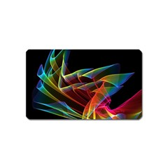 Dancing Northern Lights, Abstract Summer Sky  Magnet (name Card) by DianeClancy