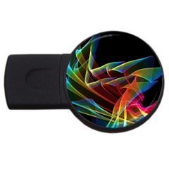 Dancing Northern Lights, Abstract Summer Sky  2gb Usb Flash Drive (round) by DianeClancy